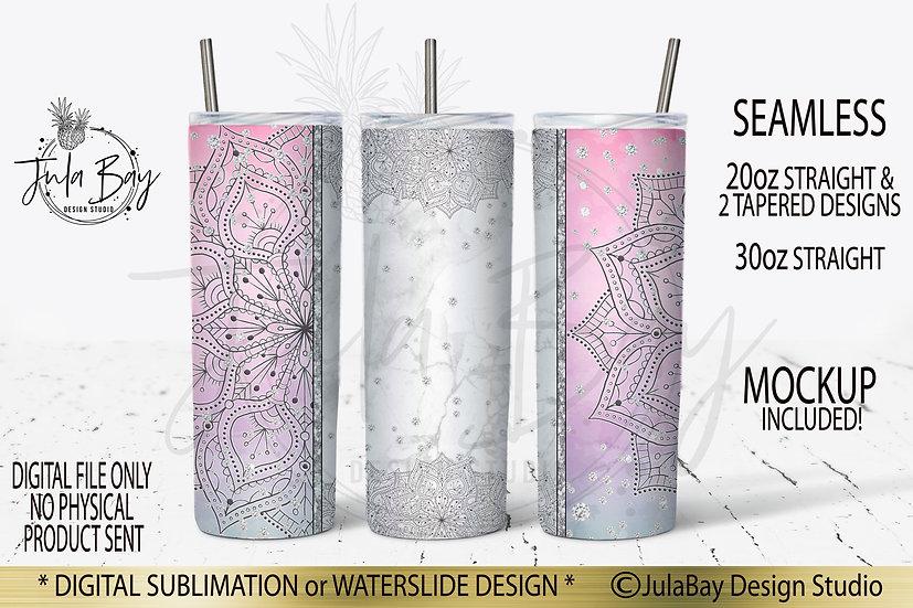 Sublimation Designs for Skinny Tumblers Mandala Tumbler PNG
