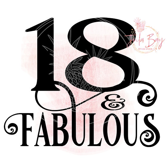 18 & Fabulous SVG PNG EPS DXF
