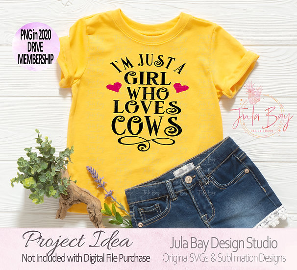I'm just a girl who loves cats SVG Clipart PNG Sublimation DXF EPS Tshirt Design