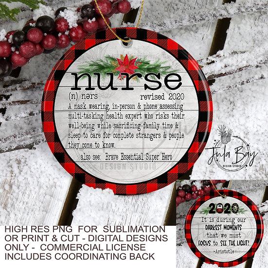 2020 Christmas Ornaments For Nurse PNG Social Distancing Nurse Definition