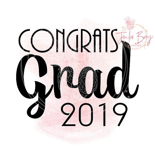 Congrats Grad 2019 SVG PNG EPS DXF