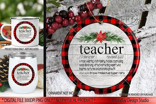 2020 Christmas Ornaments For Teachers PNG Social Distancing Teacher Definition