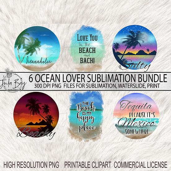 Ocean lover Sublimation Bundle Beach Lover PNG Tropical Designs