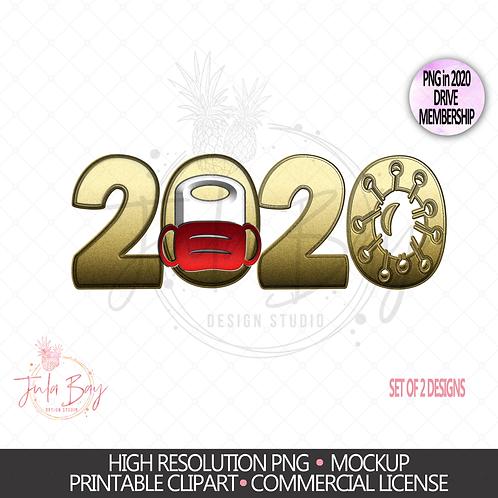 2020 Keepsake PNG Ornament Sublimation Design - 2020 Keepsake Or