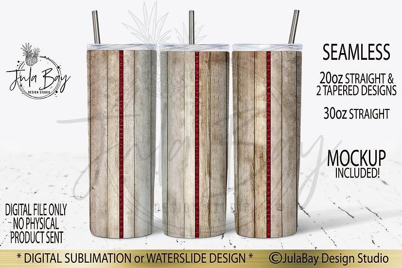Wood Grain Tri Split Seamless Tapered Tumbler Template & Straight Template
