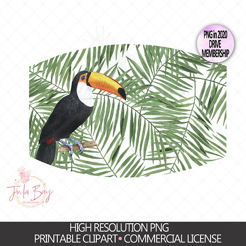 Toucan Tropical Mask Design PNG Digital Design - Sublimation Mask