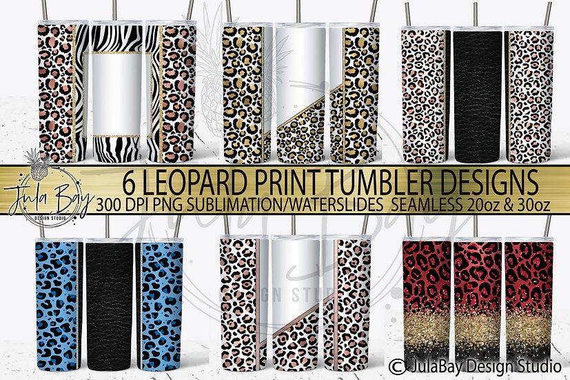 Leopard Print Tumbler Template Bundle 6 Tumbler Template Rose Gold Red Blue Gold