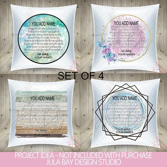 Quarantined Hug Pillow PNG Social Distancing Hug a Pillow Sublimation Design