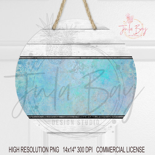 Pretty Blue and Shiplap Front Door Background PNG Sublimation Blank Design