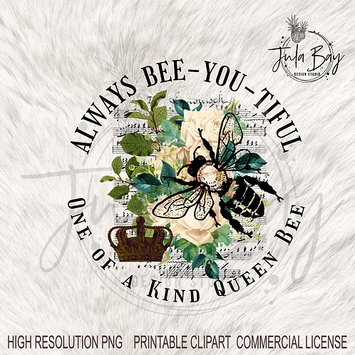 Always bee-you-tiful Sublimation PNG queen bee honeycomb tumbler design