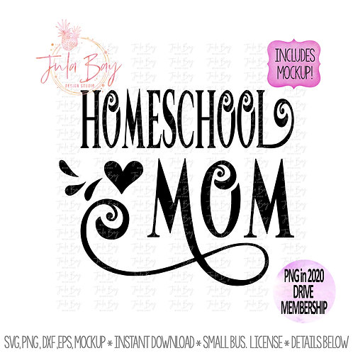 Homeschool Mom SVG PNG Clipart -