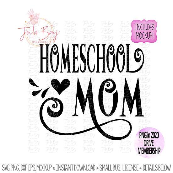 Homeschool Mom SVG PNG Clipart -