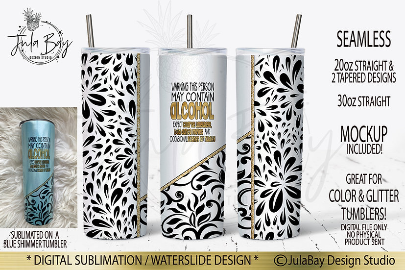 Funny Skinny Tumbler Design May Contain Alcohol Bad Dance Moves Nudity