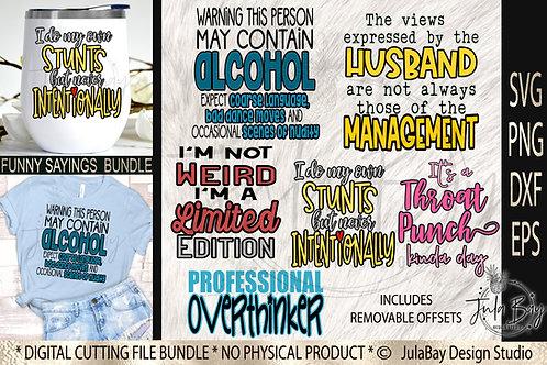 Funny Sayings SVG Bundle Layered SVG Tshirt Designs Wine
