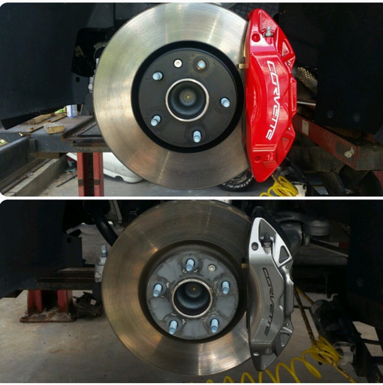 Painted calipers