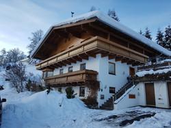 Aussenansicht Ferienhaus Winter