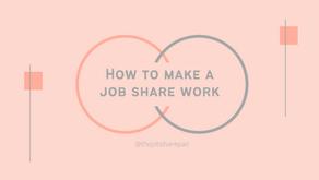 How to make a job share work