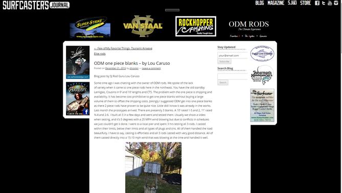 ODM NEX1 one piece blanks – by Surfcaster's Journal Rod Guru Lou Caruso