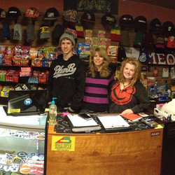 Brian, Jeannene and Leanna in the shop