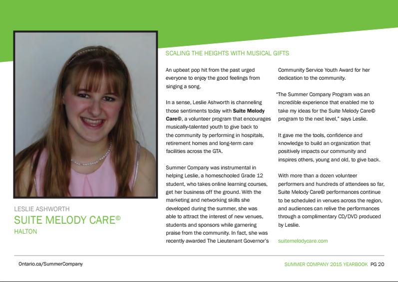 Halton Summer Company Yearbook 2015