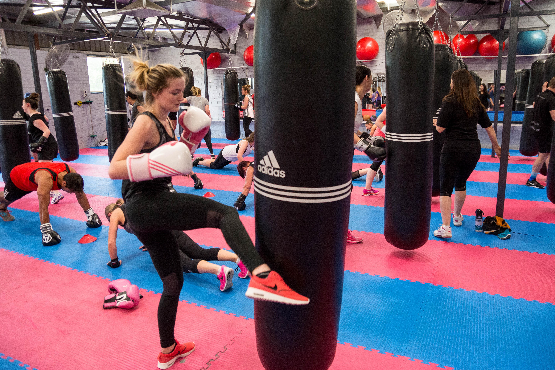 Womens & mens cardio kickboxing
