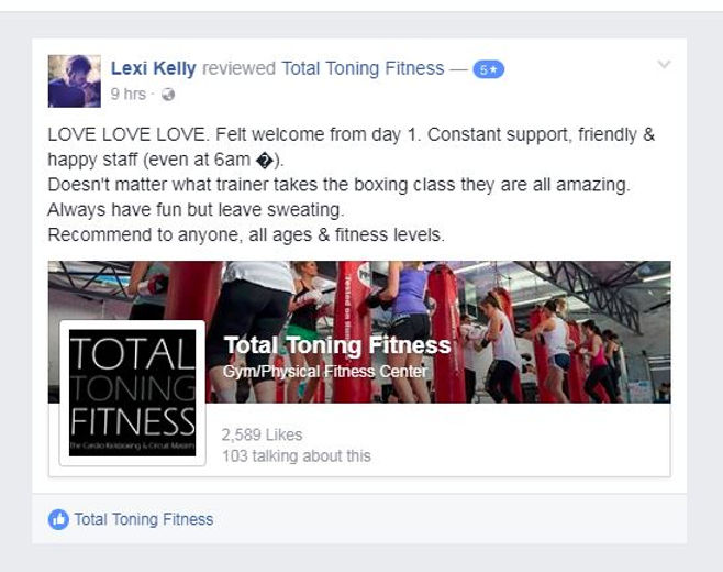 total toning fitness reviews & tetimonial lexi