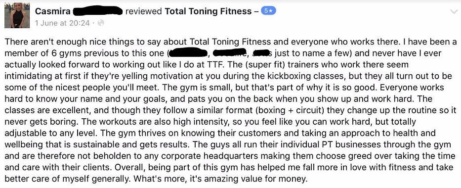 total toning fitness reviews & tetimonial casmira