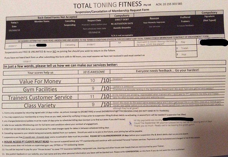 total toning fitness reviews & tetimonial brodie