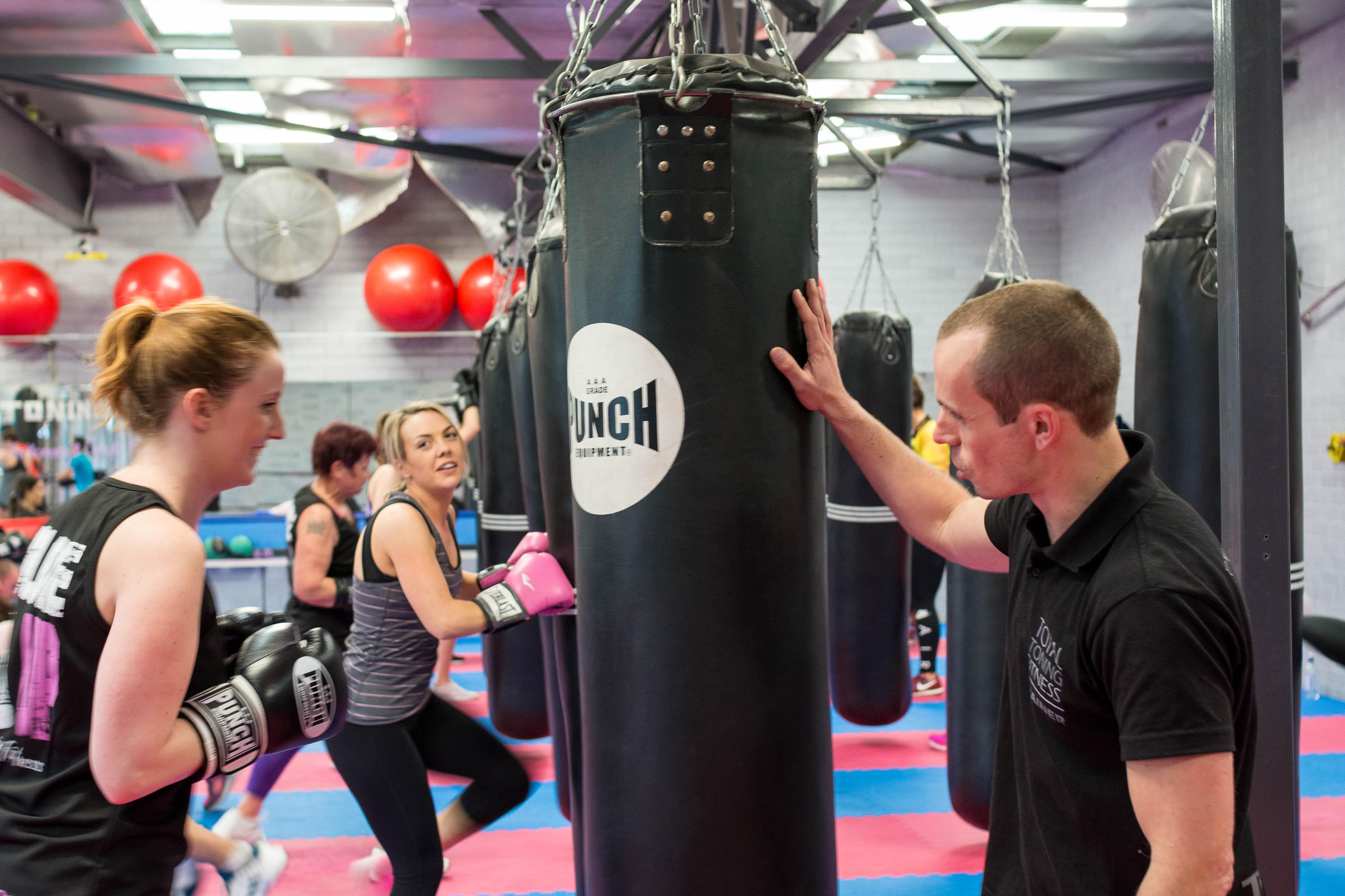 Kickboxing class - helpful trainers
