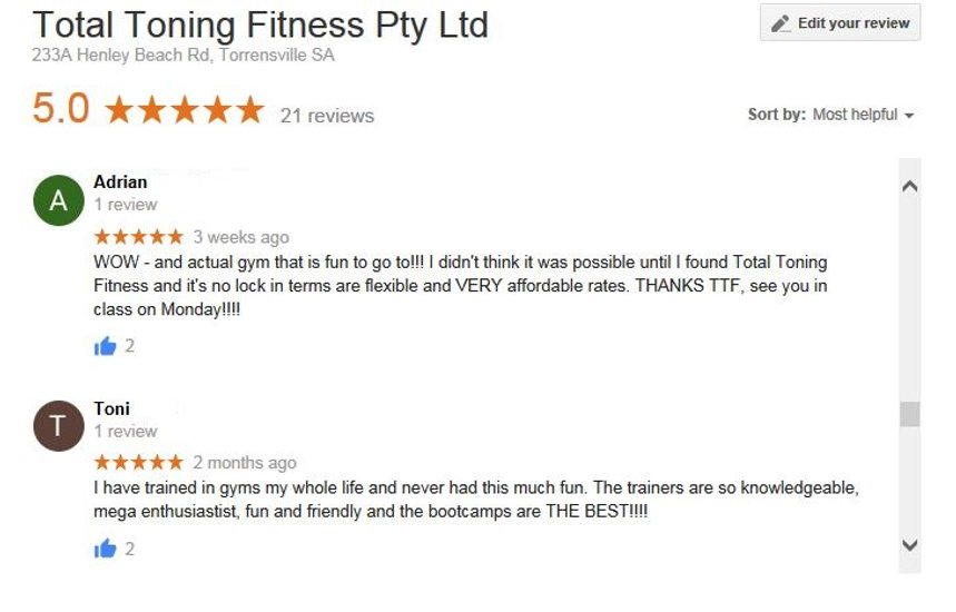 total toning fitness reviews & tetimonial adrian toni