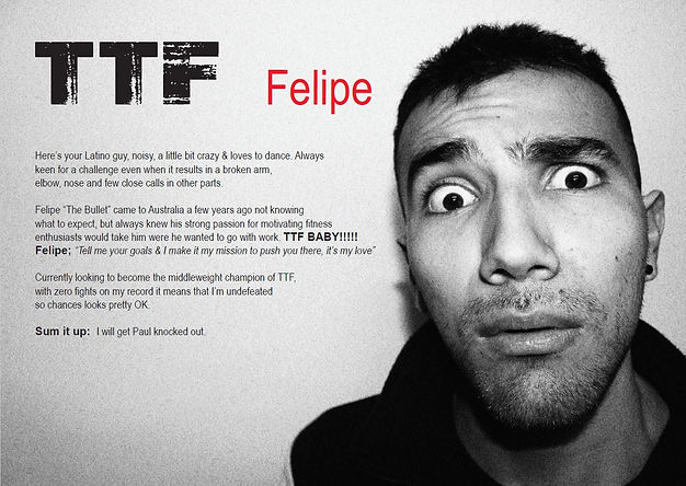 Golden gloves, boxing, kickboxing, fitness, gyms, personal trainers, TTF, weight loss, Felipe