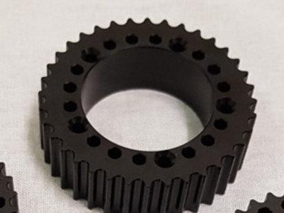 36/15- HTD-5 HUB drive pulley Black anodised