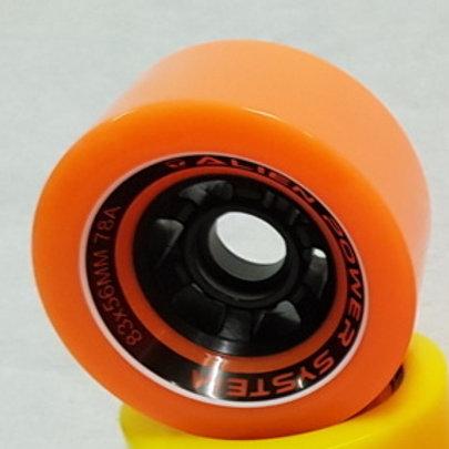 APS Power wheel 83mm 78A - Colour: Orange-black