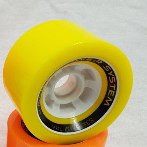 APS Power wheel 83mm 78A - Colour: Yellow