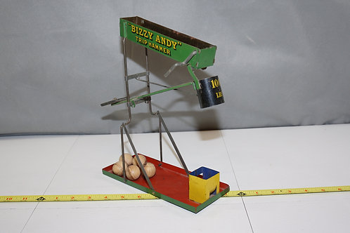 Bizzy Andy Trip Hammer Tin Toy Ca 1920s By Wolverine