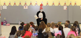 Cat in the Hat reading at WES