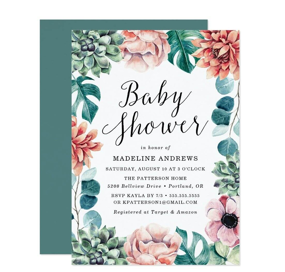 baby shower invites for a girl