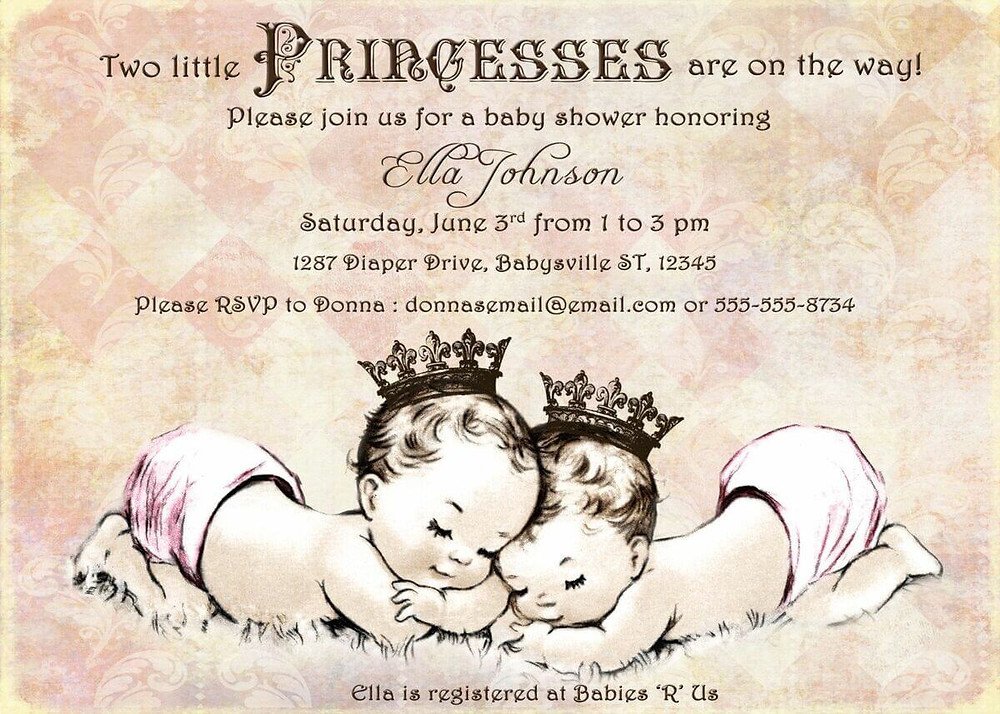 baby shower invites for twins