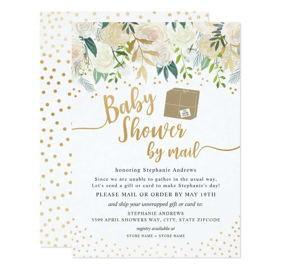 mail baby shower invitation