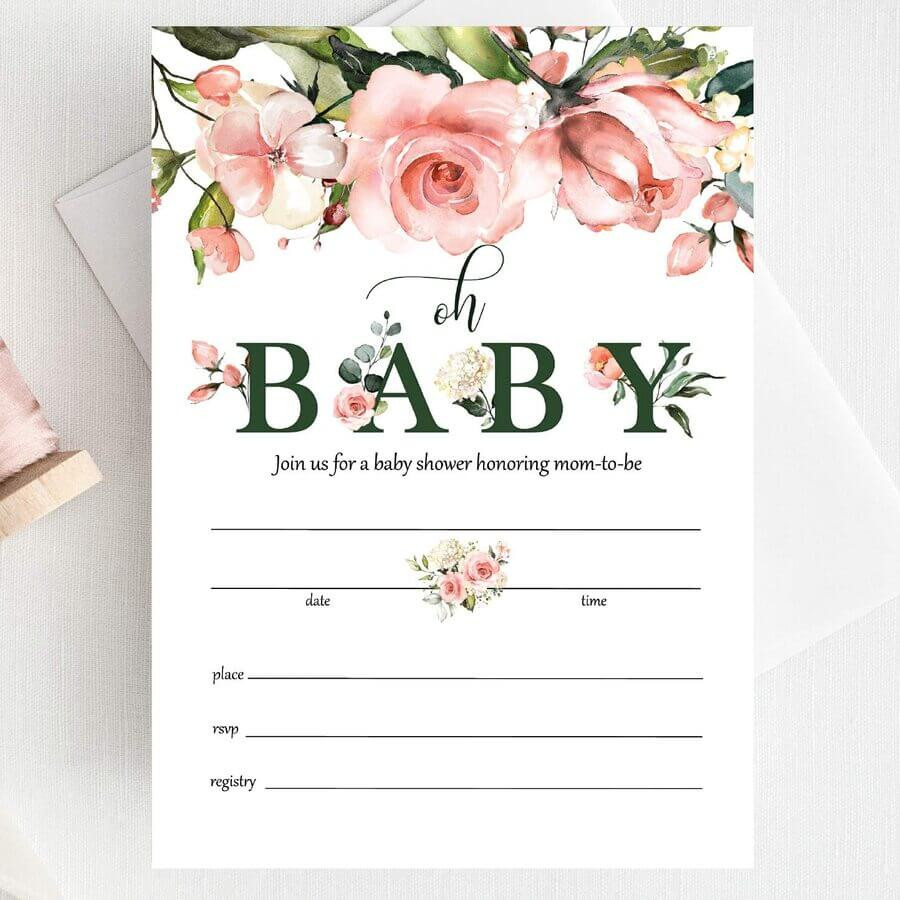 baby shower invites examples