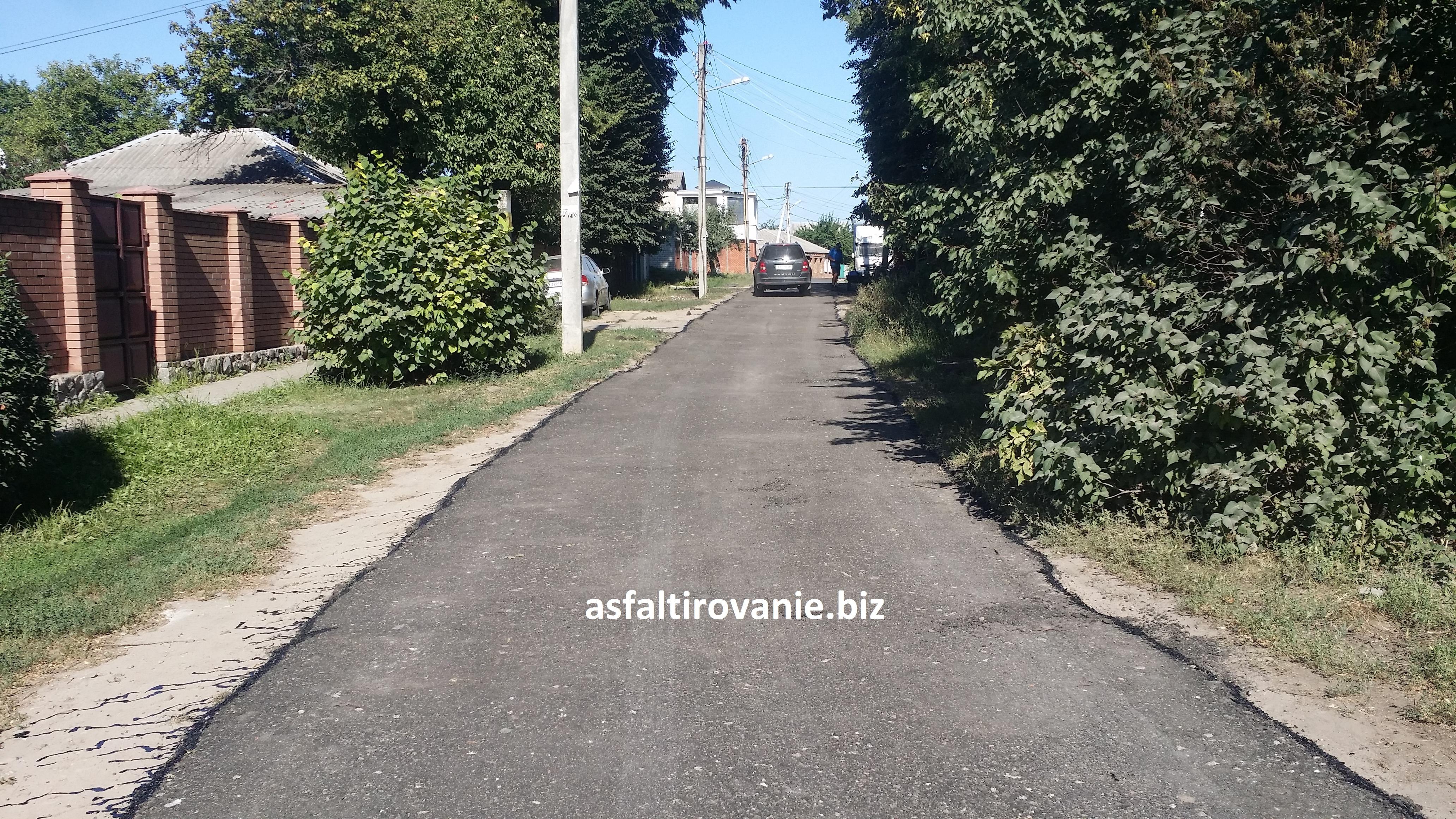 Асфальтирование асфальтовой крошкой доро