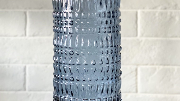 Blue smoked glass vase