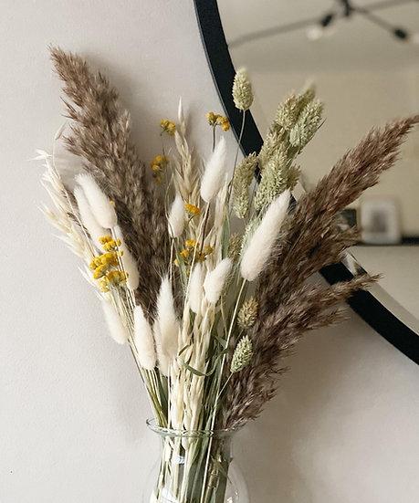 Fluffy oriental grass bouquet
