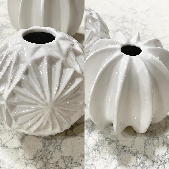 White pumpkin or star vase