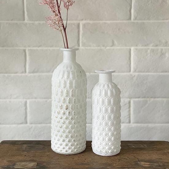 White and gold vase