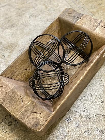 Matte black decorative ball