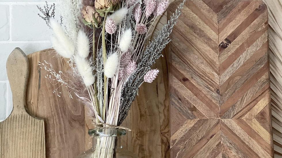 Pale pink bouquet and vase bundle
