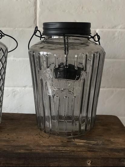 Ribbed smoked lantern