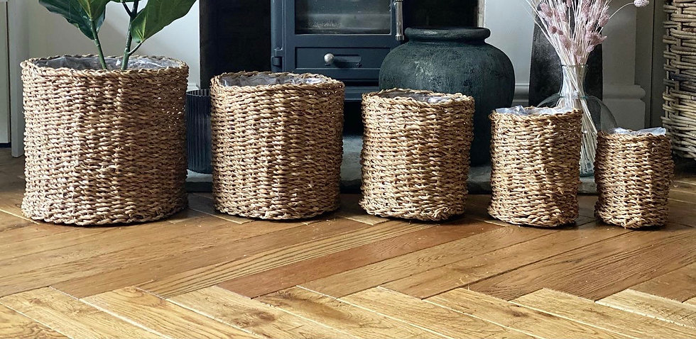 Woven lined basket