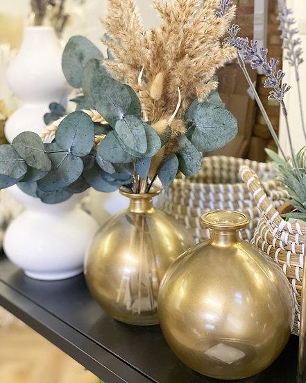 Gold sphere vase